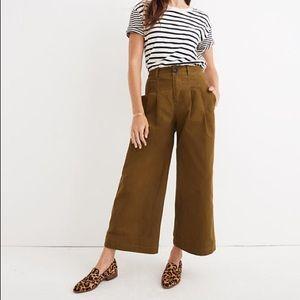 NWT Madewell Pleated Wide-Leg Pants